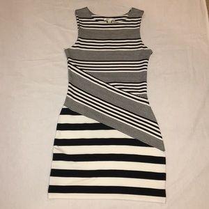 GUC Black & White Body Con Dress by MANGO Sz XS